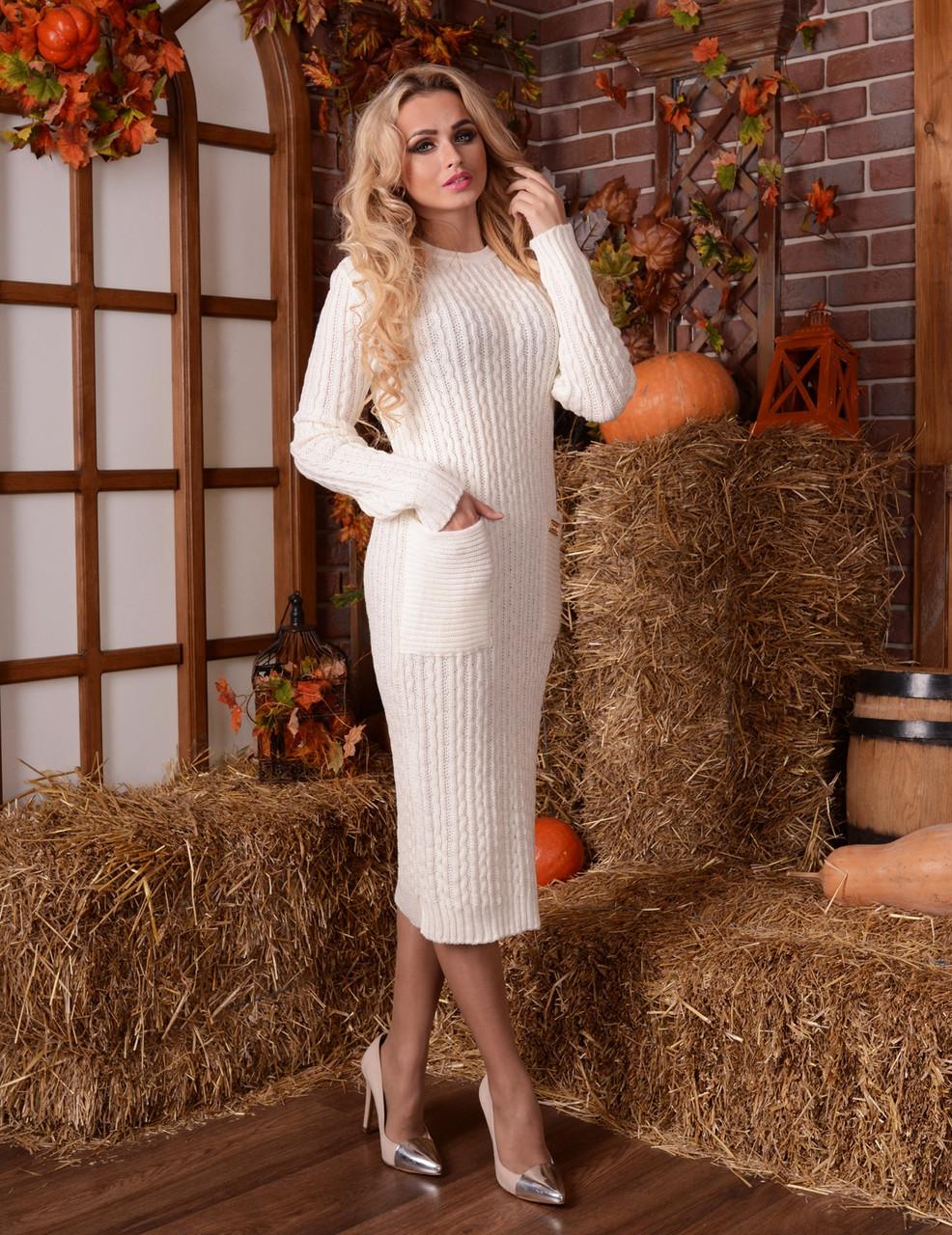 В'язане плаття Коси-кишеня 42-50