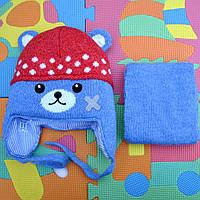 Модная зимняя шапочка  и шарф . Польша