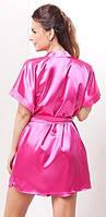 Женский халат кимоно на запах с пояском, разные цвета и размеры. Розница, опт. Украина.