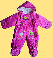 Комбинезон теплый для новорожденной девочки, розовый