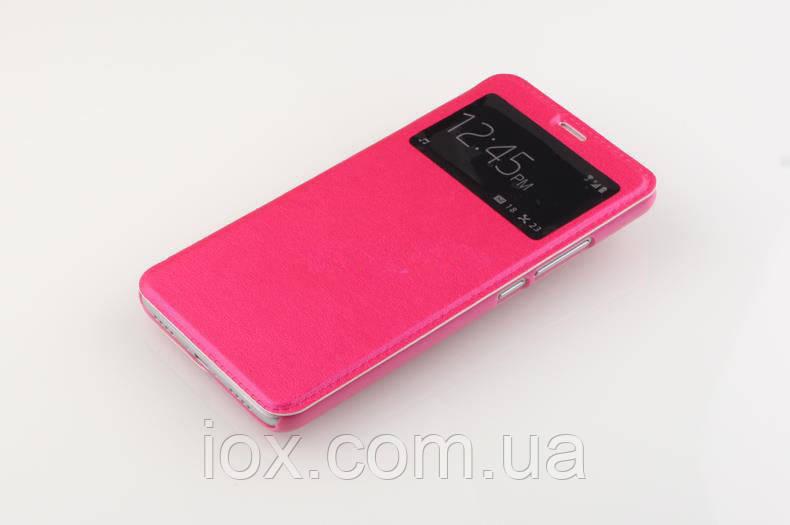 Розовая чехол-книжка с одним окошком для Meizu M3 mini/M3/M3S