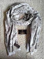 Стильный шарф/палантин Louis Vuitton, Луи Витон (светлый беж)