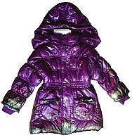 """Куртка-пальто детская для девочки, фиолетовая, демисезонная """"Арбузное настроение"""""""