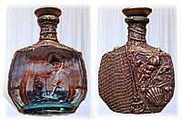 """Бутылки в морском стиле """"Подарок капитану"""", предметы декора интерьера в морском стиле"""