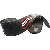Бинты на колени Power System PS - 3700 Черно-красный