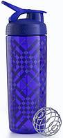 Шейкер спортивный BlenderBottle Signature Sleek 820ml (ORIGINAL) Purple Tratan Plaid