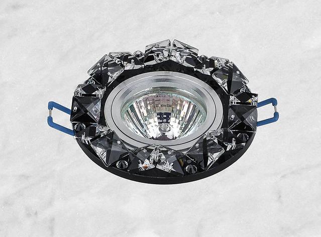 Точечный стеклянный врезной светильник (16-148), фото 2