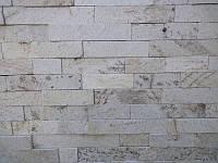 """Камень Сланец """"Белые пески"""" KLVIV торцованная лапша 5 см. 0.5 м.кв   , фото 1"""