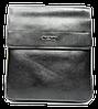 Стильная мужская сумка черного цвета из искуcственной кожи POLO CМ-44