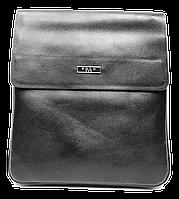 Стильная мужская сумка черного цвета из искуcственной кожи POLO CМ-44, фото 1