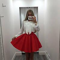 """Красивый костюм """" Ладья """" с красной юбкой. Арт-8866/74"""