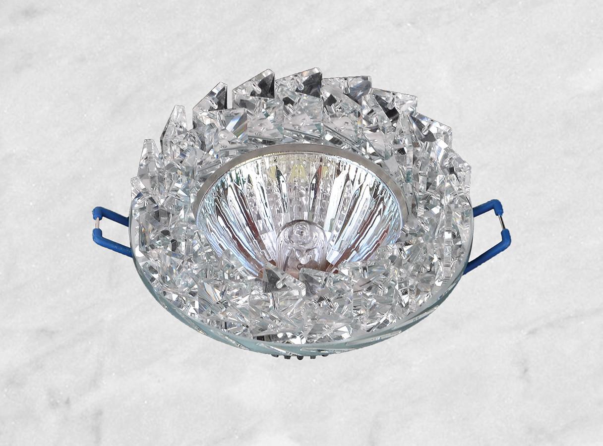 Точечный стеклянный врезной светильник (16-186)