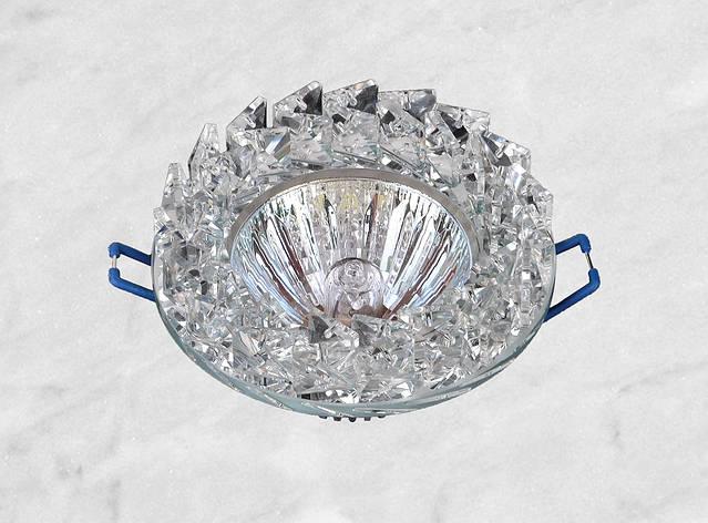 Точечный стеклянный врезной светильник (16-186), фото 2