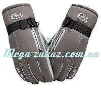 Перчатки горнолыжные/перчатки лыжные Puissant Classic: серый, размер L