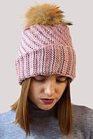 Женская шапка-колпак с отворотом с мелкими паетками