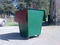 Контейнер для мусора (2мм) с двумя крышками на колесах