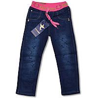 Утепленные джинсы на флисе для девочек на 5,6 лет