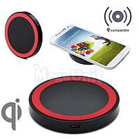 Qi Беспроводное зарядное для телефона (Wireless charger) Ultra Slim Красный