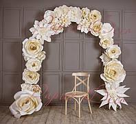 Оформление бумажными цветами свадебная арка