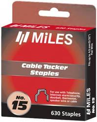 Скоби для кабелів з ізолятором-фіксатором 15C-4 мм