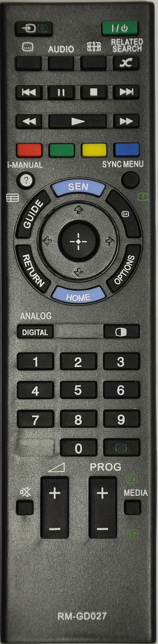 Пульт для телевизора SONY. Модель RM-GD027