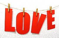 """Гирлянда - растяжка """"LOVE"""" для фотосессий."""