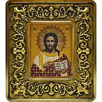 Набор для вышивки бисером и нитками 701101. ХРИСТОС СПАСИТЕЛЬ (ЗОЛОТО, ЛИЛИИ)