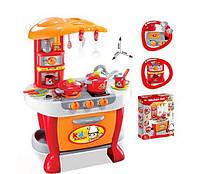 Кухня детская с плитой, духовкой, мойкой, посудкой, свет, звук