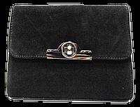 Элегантная женская сумка из замша черного цвета DFA-831519