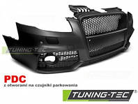 Бампер передний тюнинг обвес Audi A4 B7 в стиле RS с PDC