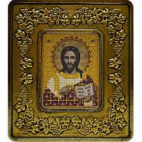 Набор для вышивки бисером и нитками 701201. ХРИСТОС СПАСИТЕЛЬ (ЗОЛОТО, ВИНОГРАД)