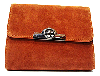 Стильная женская сумка из замша коричневого цвета DFA-825312