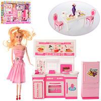 Кукла в комплекте с кухней KT-45235