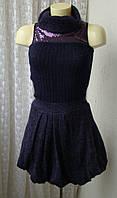 Платье теплое вязаное мохер Италия р.40-42 7288