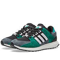 Оригинальные  кроссовки  Adidas EQT Support 93/16 Black, White & Sub Green