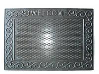 """Коврик придверный резиновый """"Welcome-2"""", 40*59 см"""