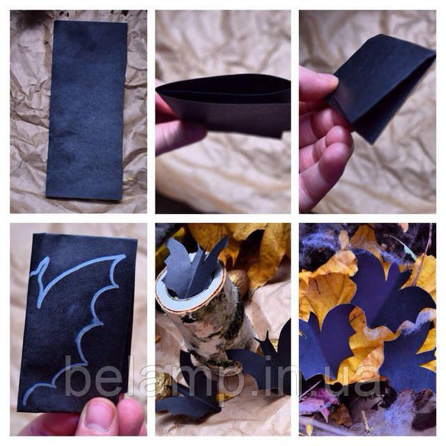 как создать летучую мышь из бумаги