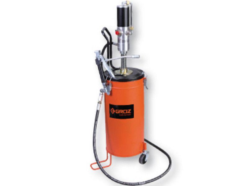 Groz 45432 BGRP/15 пневмо насос для смазки с ёмкостью