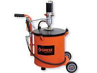 Groz 45430 BGRP/30 пневматический нагнетатель смазки c ёмкостью