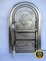 Печная дверца Лев Сомалийский, чугунные дверки для печи и барбекю
