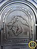 Печная дверца Лев Сомалийский, чугунные дверки для печи и барбекю, фото 3