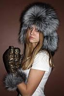 Шапка ушанка из финской чернобурки