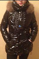 Стильная женская курточка на холлофайбере. Фабричный Китай. Натуральный мех