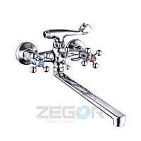 Смеситель для ванны длинный гусак, DTZ7-А827 (D4Q) ZEGOR (TROYA)