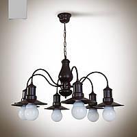 Люстра из дерева 6 ламповая  18706-2