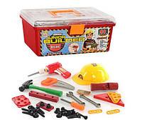 Детский набор инструментов в чемодане 41 предмет, дрель на батарейках