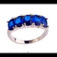 Кольцо с королевским синим сапфиром 17р 18р