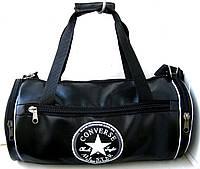 Спортивная сумка бочонок Converse кожзам черная