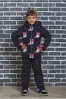 Детский зимний костюм на синтепоне Лисички