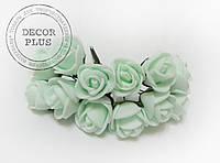 Роза латексная 1,5см. Светло-мятная